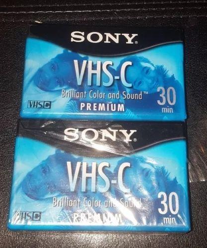 Sony VHS-C VHS C Blank Tapes (2) NIP