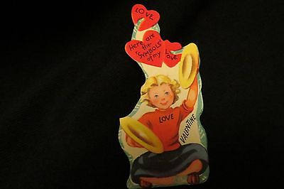 Vintage CYMBALS Valentine card c. 1950s