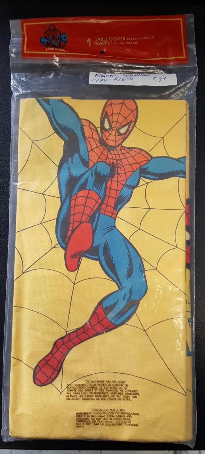 Vintage Amazing Spiderman Paper Table Covers 1978