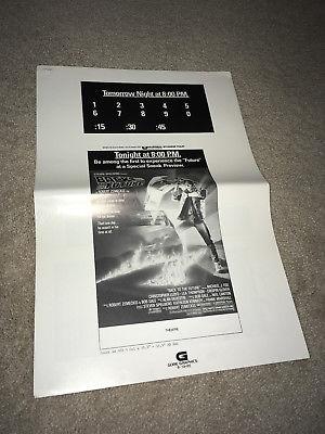 BACK TO THE FUTURE Orig Movie Ad Mat Pressbook 1985 Michael J Fox Sci-Fi Comedy
