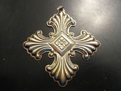 1973 Sterling Silver .925 Reed & Barton Christmas Cross Ornament