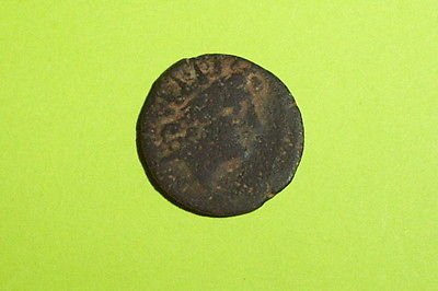 GREEK COIN of ANTIOCHOS VIII 189 BC-124 BC headdress of Egyptian Isis radiate ae
