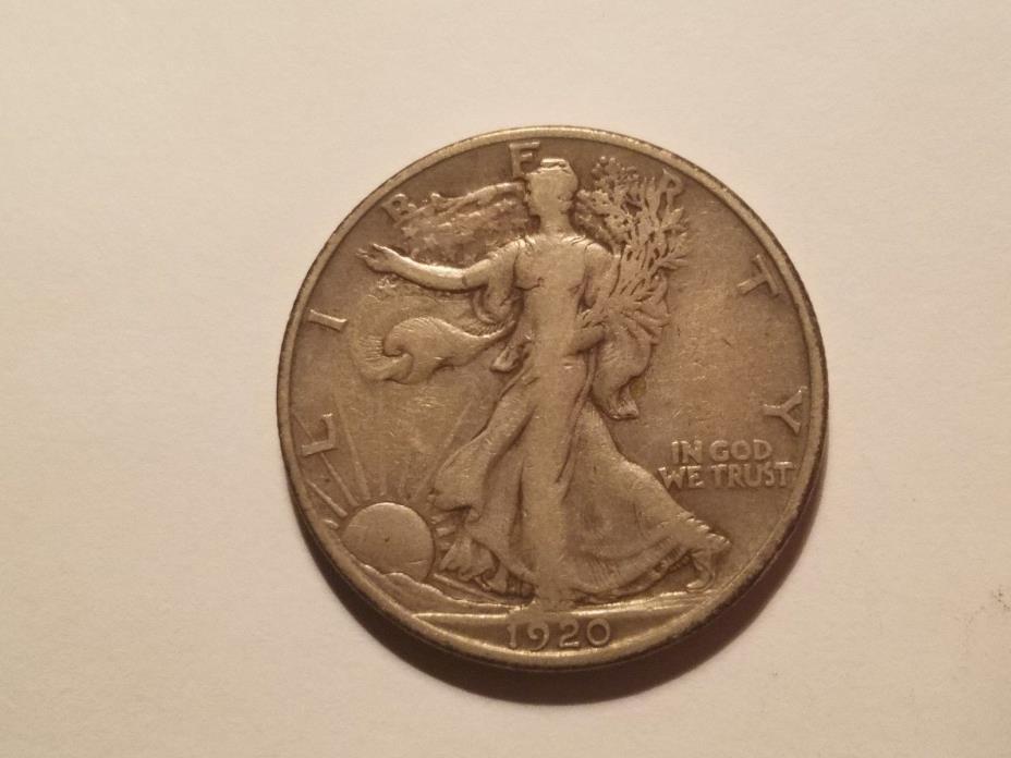 1920 S Walking Liberty Half Dollar VF