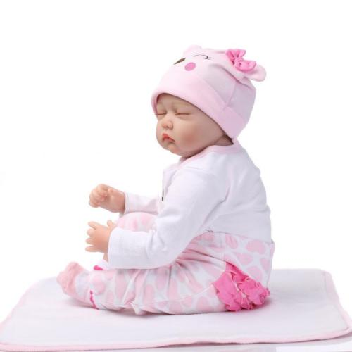 Reborn Toddler Dolls Handmade Lifelike Baby Solid Silicone Vinyl Doll New