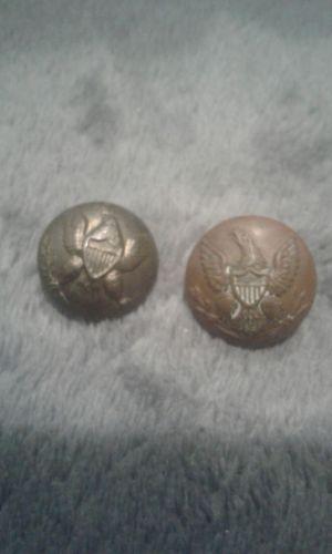two Gettysburg walton yankee civil war buttons
