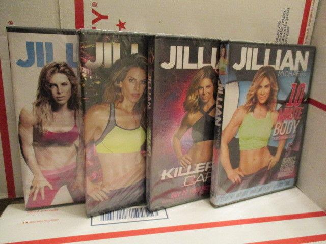 Jillian Michaels 4 DVD Killer Body Killer Cardio Hard Body 10 minute Body NEW