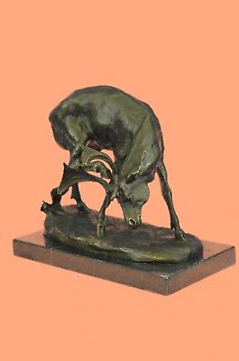 Bronze Sculpture Statue Buck Deer Elk Stag Wildlife Art Cabin Lodge Sportsman Ar