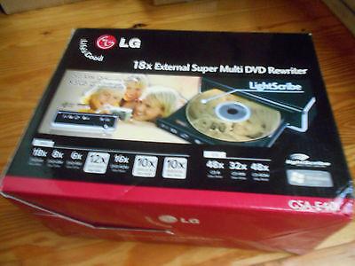 External LG 18x Super Multi DVD-CD Burner GSA-H22L Lightscribe Electronics