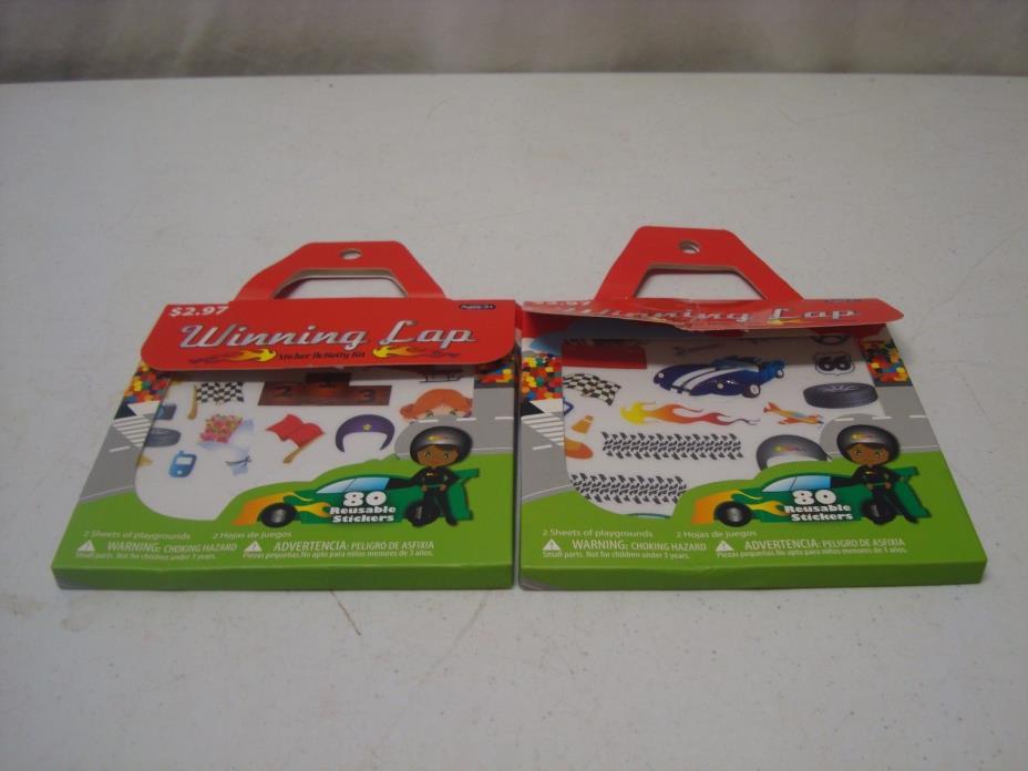 Winning Lap Race Car Sticker Activity Set of 2