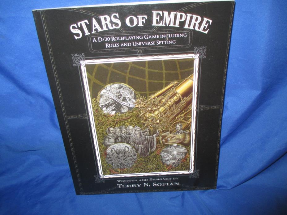 Stars of Empire by Terry N. Sofian, Paperback D/20 Victorian Steampunk RPG Rules