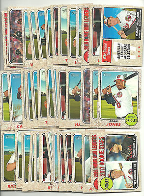 2017 Topps Heritage Baltimore Orioles Team Lot (40) Assorted Stars RC Machado