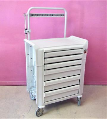 Metro Flexline Locking Medical Supply Cart Mobile Clinical & Emergency Station
