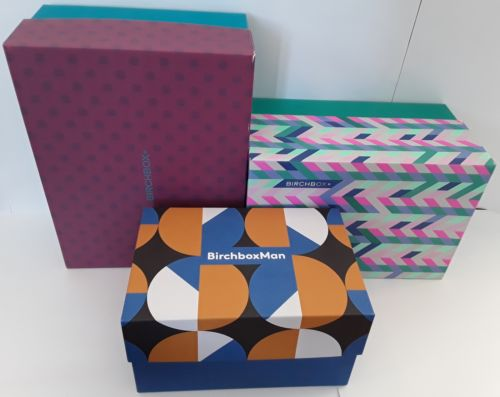 Birchbox Lot of 3 Empty Decorative and Collectible Craft Boxes Medium & Large