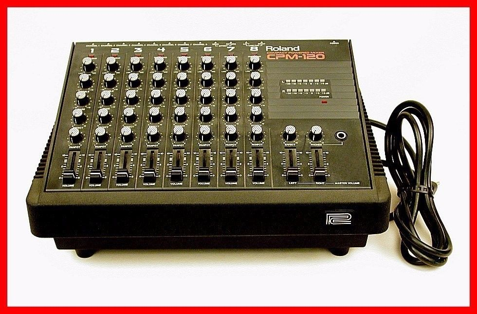 RARE ROLAND CPM-120 POWERED COMPACT STEREO PA/MIXER!!! IN MINT CONDITION!!!