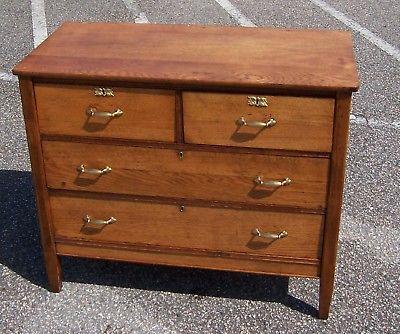 Antique Golden Oak Dresser Chest of Drawers