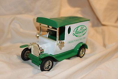 Die Cast White Fuller Brush Company Truck Hartford Coin Piggy Savings Bank w/Key
