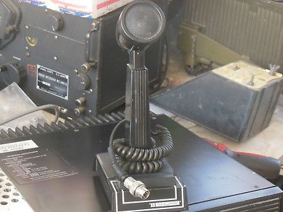 Ham Military Radio Desk Mic Shure 444 type Black for Transworld TW100 etc