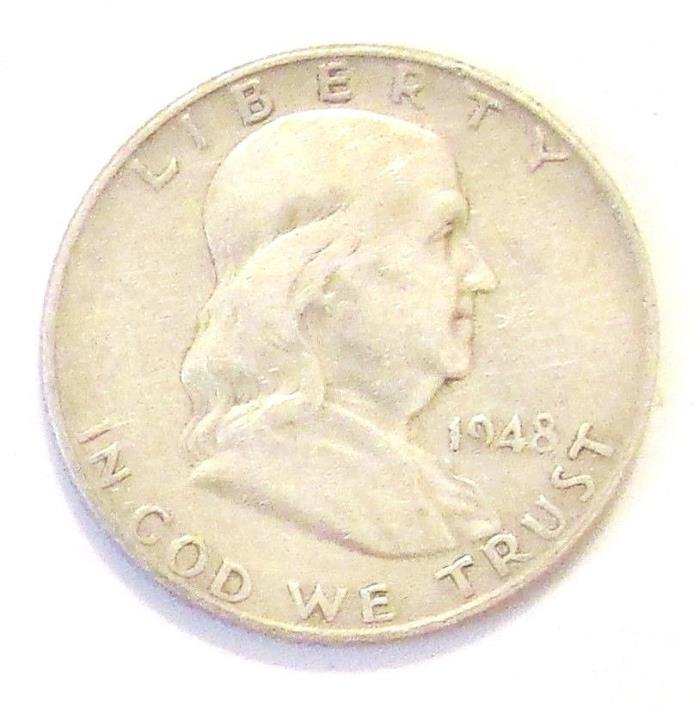 1948 D  FRANKLIN HALF DOLLAR #3836