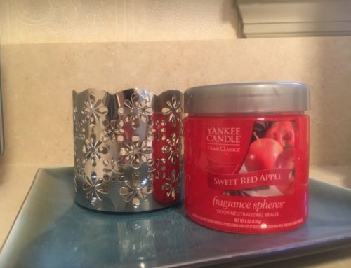 Yankee Candle Fragrance Spheres Sweet Red Apple/Silver Holder