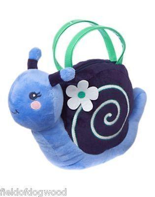 NWT Gymboree Spring Prep Blue Snail Plush Purse Toy Bag Size 2 3 4 5 6 7 8