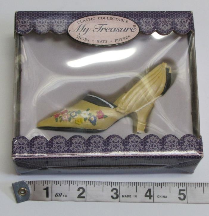 My Treasure Shoes Ivory Floral Pumps Heels NEW IN BOX