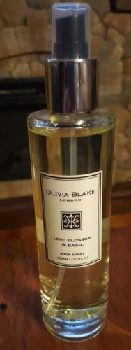 New Olivia Blake London LIME BLOSSOM & BASIL Room Spray 6.7 oz Glass Bottle HTF
