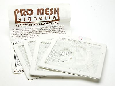 Pack Of 4 Different Pro Mesh White Vignettes # 43.4032 4,5 x 4,5