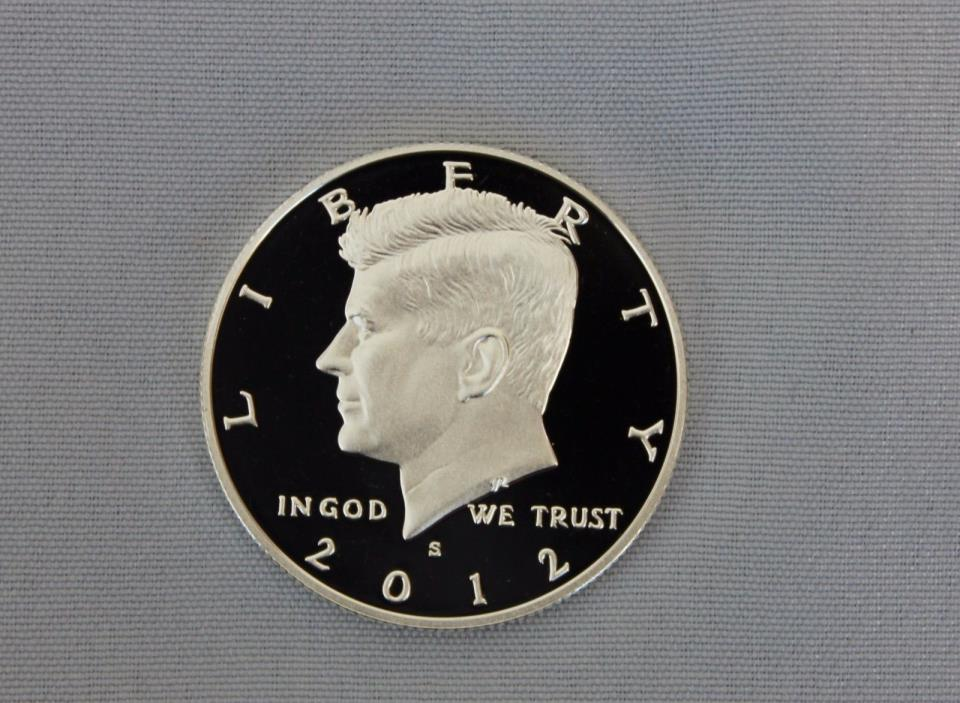2012-S Kennedy Silver Proof Half Dollar Ultra Deep Cameo!!