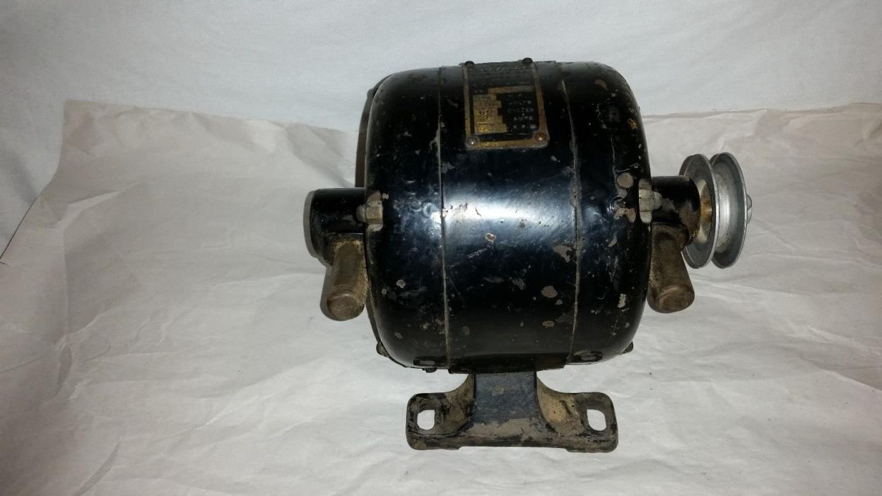 Vtg COFFIELD  Washer CO. ELECTRIC Motor 110 VOLTS 1/4 HP USA runs