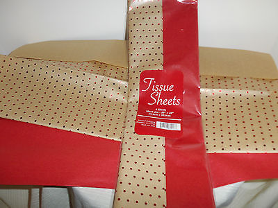 KRAFT GIFT TISSUE PAPER- Thick Sheets- 6 SHEETS- NEW