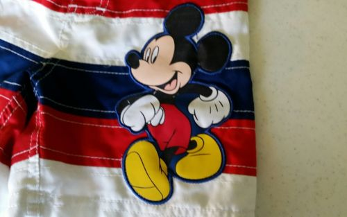 DISNEY STORE MICKEY MOUSE swim trunks 28 Red White And Blue