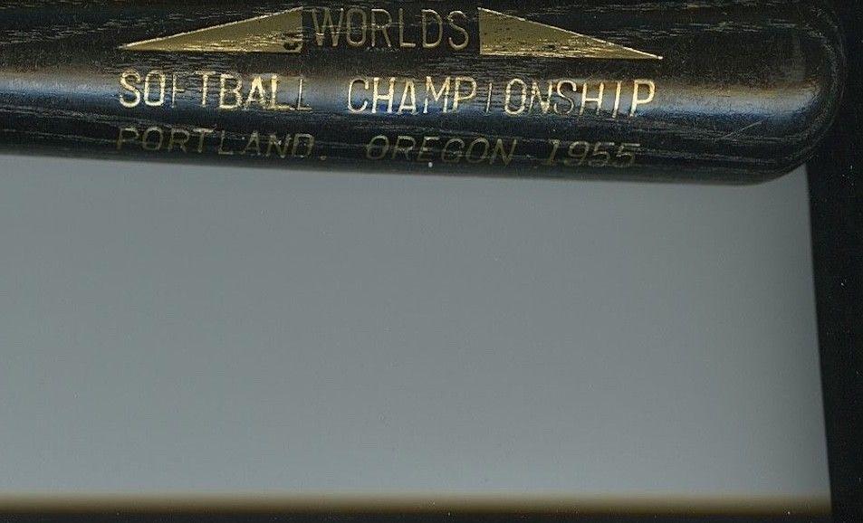 1955 WORLDS SOFTBALL CHAMPIONSHIP Portland, OR - LOUISVILLE SLUGGER Mini Bat