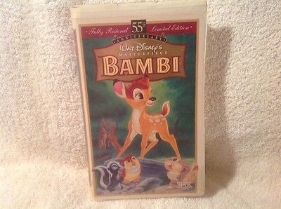 Disney Bambi 55th Anniversary Edition Masterpiece - VHS Clamshell Case