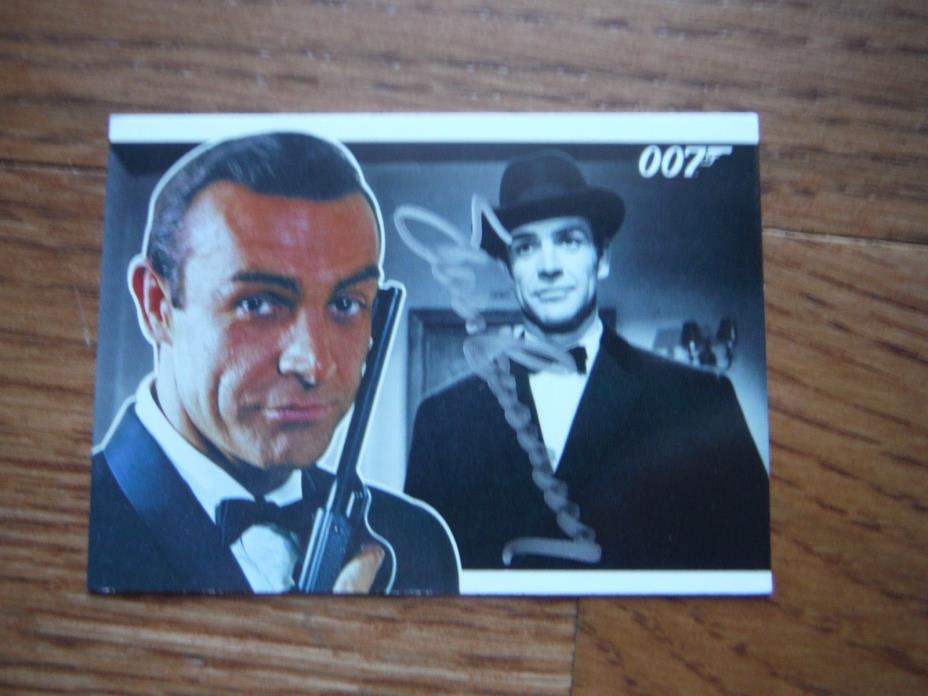 Sean Connery Autographed James Bond Card Hand Signed 007