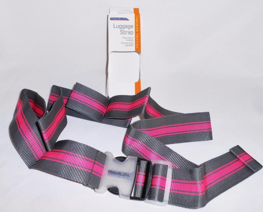 Travelon Luggage Strap NEW Gray Pink NIB Style 12143