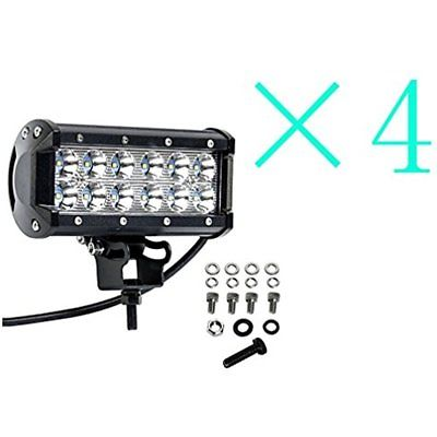 4 6.5 Inch 36W Cree Led Work Light Bar Spot Beam 4Wd Offroad Truck Marine Boat