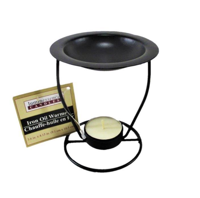 Essential Oil Warmer Oil Burner Diffuser Tea Light Holder 4.25 Inches Tall Black