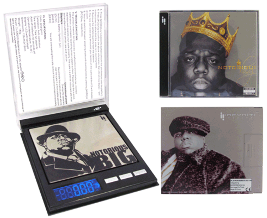 Notorious B.I.G CD Scale 100g x 0.01g Kitchen 420 Digital * Officially Licensed