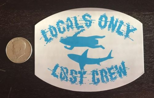 Lost Enterprises Surf Skate Sticker Authentic Lost Crew Weatherproof Rare Decal