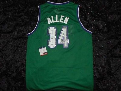 Ray Allen Autographed Milwaukee Bucks Signed NBA Jersey + COA Authentic