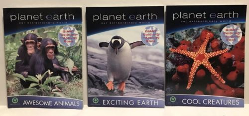 Planet Earth Giant Coloring And Activity Books Animals Wildlife BBC New Lot of 3