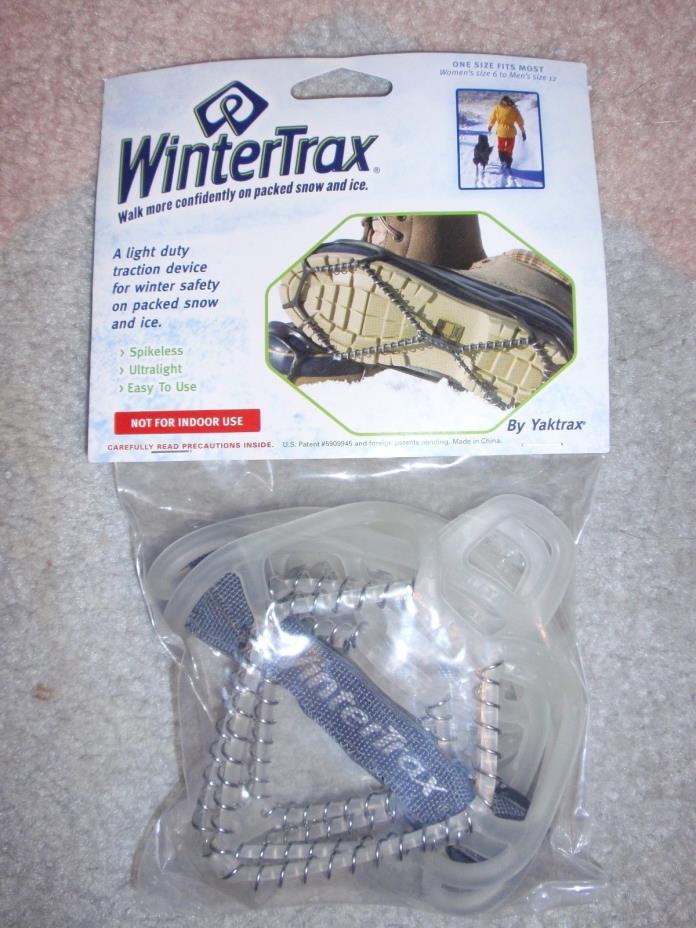 NEW Ice Snow Shoe Traction ~ Yaktrax Wintertrax Spikeless~ Women's 6 to Men's 12