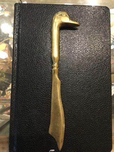 Vintage Solid Brass Duck Letter Opener