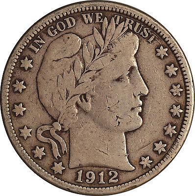 1912-D Barber Half Dollar ~ F (Fine)