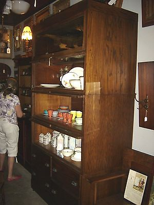 Antique Oak Country Store Shirt Display Cabinet This is a stacking unit. 7670