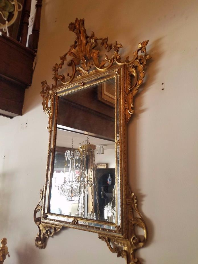 Antique French-style Gold Leaf Mirror (circa 1910)