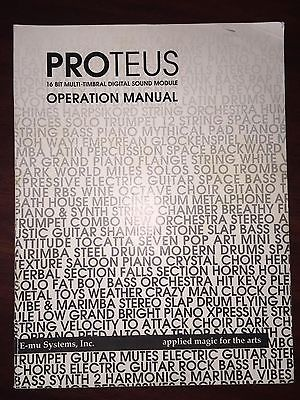 Original EMU Proteus Owner's Manual / Great Condition