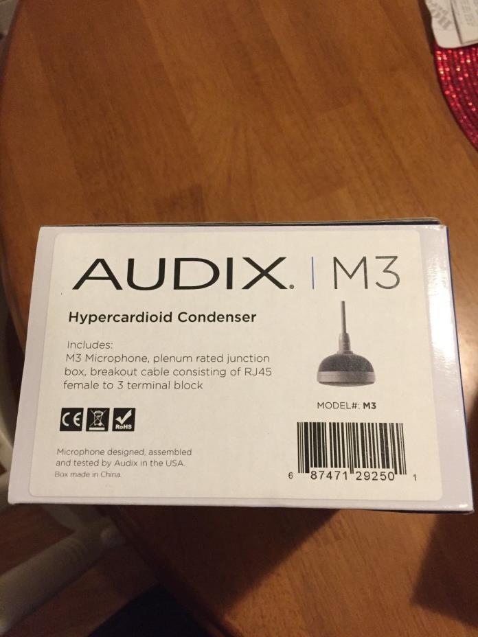 Audix m3 Tri-Element Hanging Ceiling Microphone.