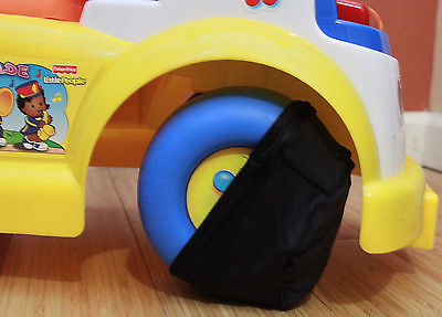PROTECT WOOD FLOORS from Babies & Toddler's toys wheels-WheelSox Wheel Covers