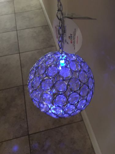 Led Blue Light Glam Ball  Decorative Lighting ~ 6.5